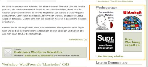 Werbung auf perun.net