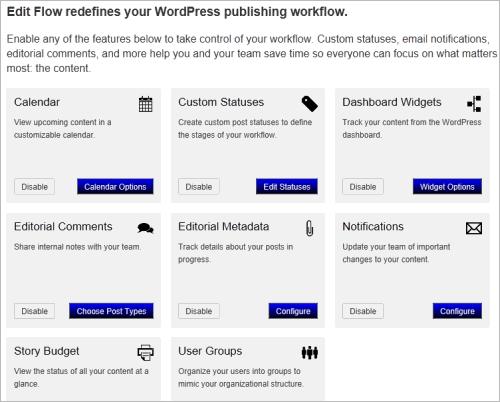 WordPress: die einzelnen Module von Edit Flow