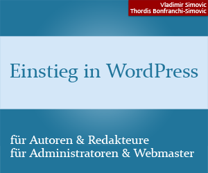 Einstieg in WordPress als Buch oder E-Book