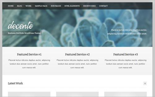 deCente: kostenloses Business-Theme für WordPress