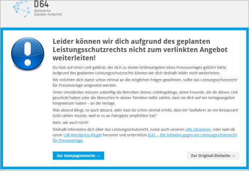 WordPress: das Leistungsschutzrecht-Plugin