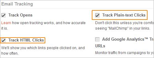 Klickrate in MailChimp ermitteln
