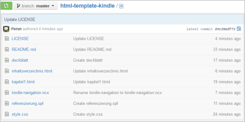 HTML-Template für E-Books (Kindle)