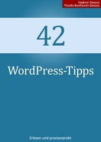 Buchcover: 42 WordPress-Tipps