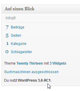 WordPress 3.6 Release Candidate 1