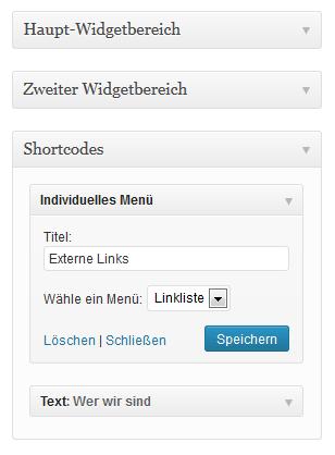 Shortcodes im Widget-Bereich von WordPress