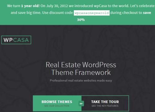 30% Rabatt auf die WordPress-Themes von wpCasa