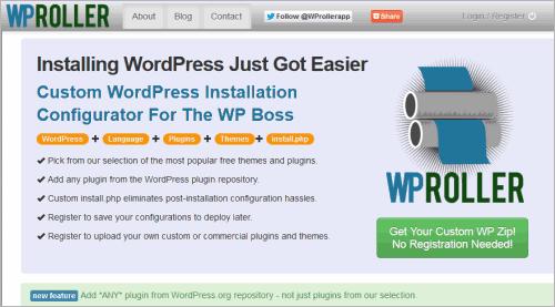 WPRoller: individuelles WordPress zusammenschnüren
