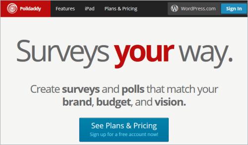 Polldaddy-Website