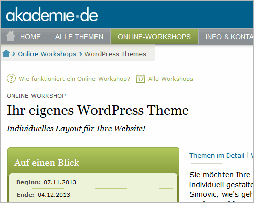 WordPress-Themes-Workshop