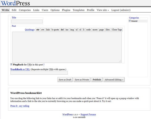 WordPress 1.2.2