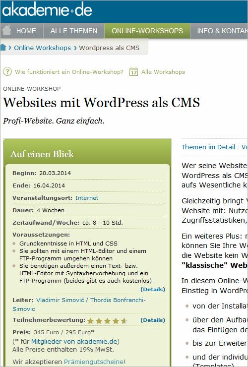 WordPress-Workshop