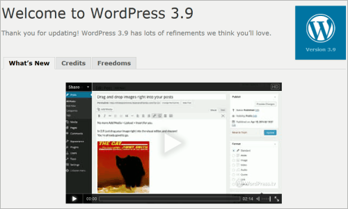 WordPress 3.9 ist da