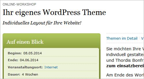 WordPress-Workshop: eigenes Theme erstellen