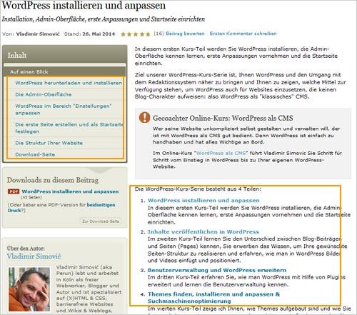 WordPress-Unterlagen Mai 2014