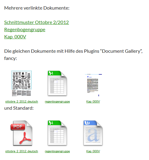 "Dokument-Galerie mit dem WordPress-Plugin ""Document Gallery"""