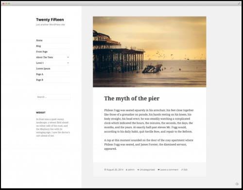 Wordpress: Twenty Fifteen