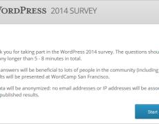 Die offizielle WordPress-Umfrage 2014