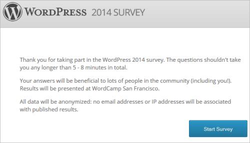 WordPress-Umfrage 2014