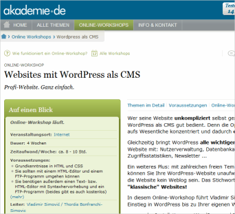 Workshop: WordPress als 'klassisches' CMS