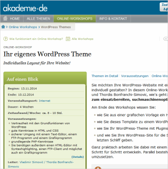 Workshop: eigene WordPress-Themes