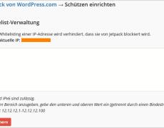 WordPress: Jetpack mit Schutz gegen Brute-Force