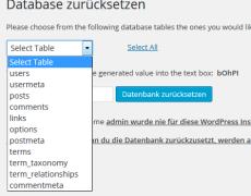 Alles auf Anfang: alle WordPress-Optionen im ursprünglichen Zustand