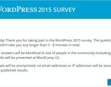 Die offizielle WordPress-Umfrage 2015
