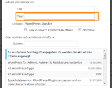 WordPress: <code>title</code>-Attribut für Links zurückbringen