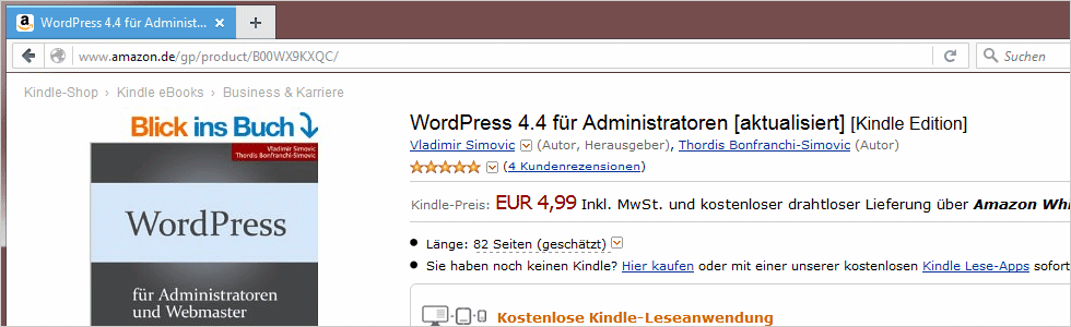 WordPress 4.4 für Administratoren