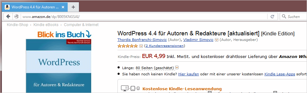 WordPress 4.4 für Autoren und Redakteure