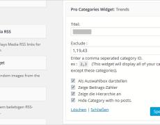 WordPress: mehrere Kategorie-Gruppen in der Sidebar