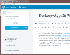 Desktop-App für WordPress-Blogs