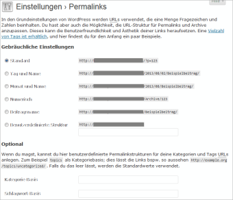 wordpress-permalinkstruktur