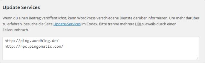 WordPress Update-Services