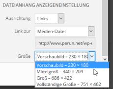 Datei-Größe auswählen