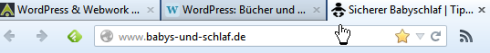 Website mit Favicon