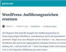 AMP: mobile Ausgabe von Beiträgen in WordPress