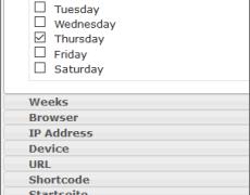 Dieses Widget wird Donnerstags nicht angezeigt.