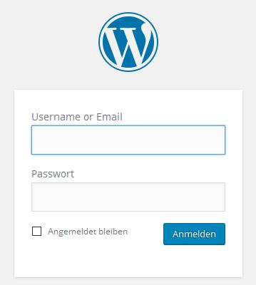 Login mit Benutzername oder E-Mail-Adresse