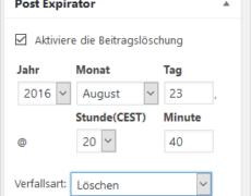 WordPress-Beiträge zu einem bestimmten Zeitpunkt offline nehmen