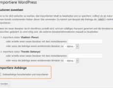 Mit WordPress umziehen