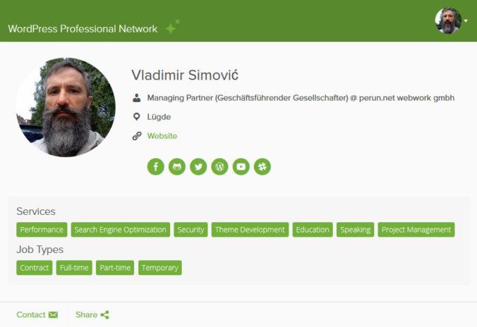Mein Profil als WordPress-Dienstleister auf Jetpack.pro