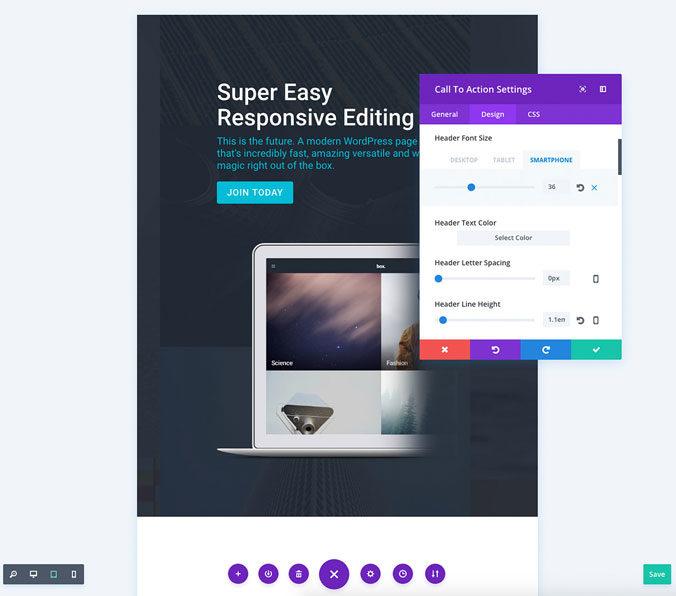 Divi 3.0: Inline Responsive Editing