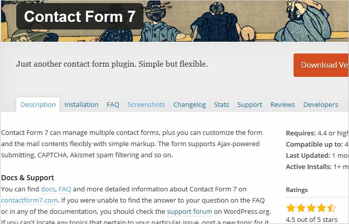 Contact Form 7 für WordPress