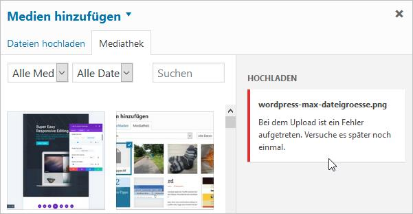 wordpress-fehler-upload