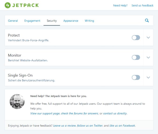 Die neuen Einstellungen von Jetpack für WordPress