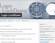 Login LockDown für WordPress: erstes Update nach 2,5 Jahren
