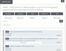 Webworker-Jobbörse auf perun.net