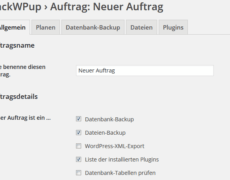 WordPress-Projekte mit BackWPup sichern